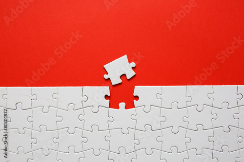 Leinwanddruck Bild Jigsaw puzzle