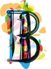 Artistic Font - Letter B