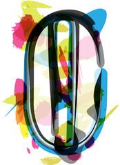Artistic Font - Letter O