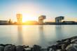 Rheinauhafen im Sonnenuntergang
