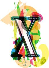 Artistic Font - Letter X