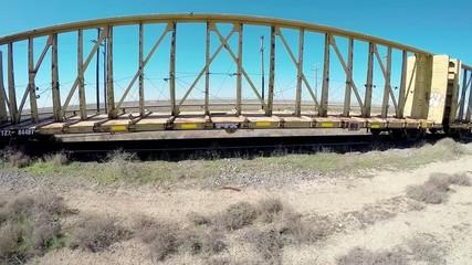 Train sits abandon on spare tracks