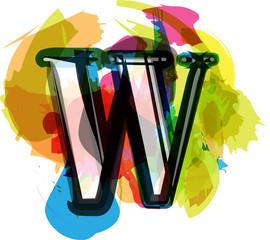 Artistic Font - Letter w