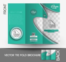 Fitness Center Tri-Fold Mock up & Brochure Design