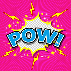 Pow! - Comic Speech Bubble, Cartoon
