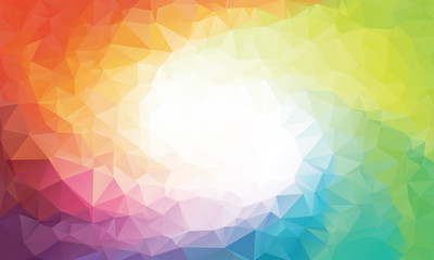 Colorful rainbow polygon background or vector frame