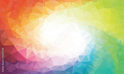 Colorful rainbow polygon background or vector frame - 80707168