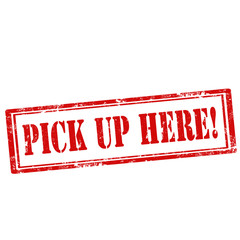 Pick Up Here!-stamp