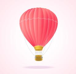 Vector. Pink hotair ballons.