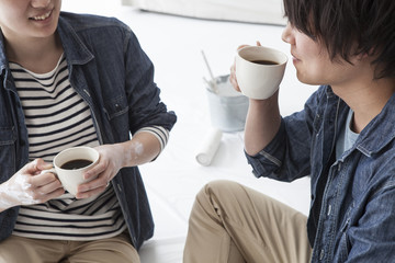 Couple in coffee break