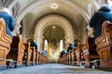 Sunday mass in catholic church wide angle - 80708359