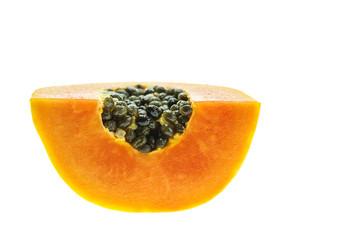 Thai papaya isolated on white