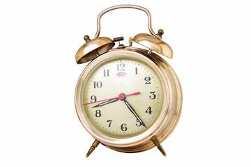 Vintage alarm clock isolated