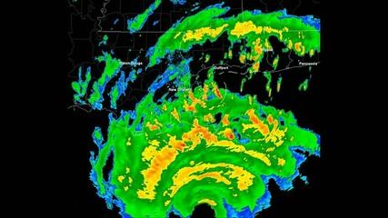 Hurricane Katrina (2005) Landfall Time lapse