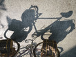 Vintage bicycle shadow art abstract background