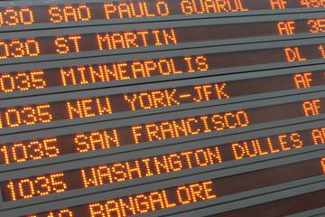 Aéroport - Airport timetable