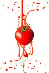 Tomato juice splashing