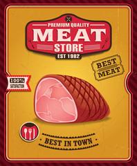 Vintage meat poster design