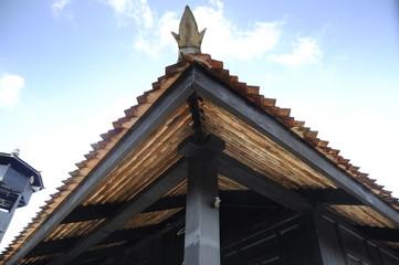 Roof detail of Kampung Laut Mosque at Kelantan, Malaysia