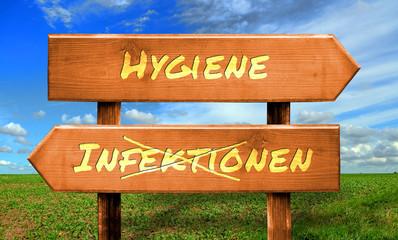 Strassenschild 33 - Hygiene