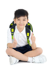 Asian primary school kid