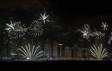 UAE National Day fireworks in Dubai
