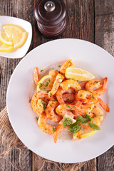 fried shrimp with parsley