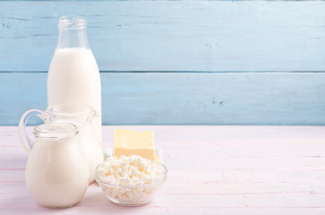 Dairy products at left side