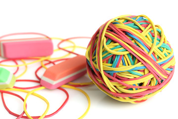 Rubber band and eraser