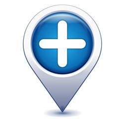ajouter sur marqueur géolocalisation bleu