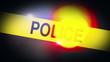 Flashing Police Revolving Light Bokeh on top of Police Service