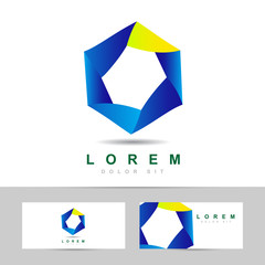 Abstract hexagon business logo