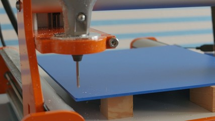 Milling of plastic parts on CNC machines