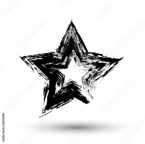 Foto op Aluminium Vormen Grunge Star