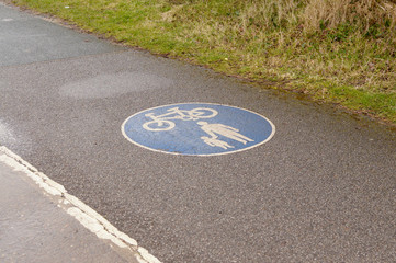 Cycle lane sign and symbol