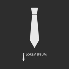 Grey tie as logo