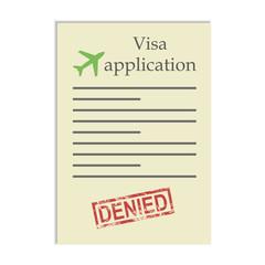 Visa application  with denied stamp