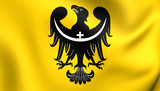 Flag of Lower Silesian Voivodeship, Poland.