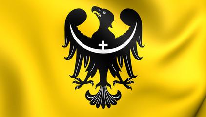 Flag of Lower Silesian Voivodeship, Poland.