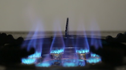 Gas burner from a stove.