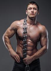 Man with great body anatomy