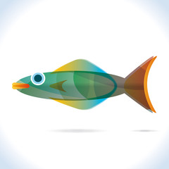 Fish, fish logo, illustration