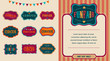 Vintage Circus labels set - 80721191