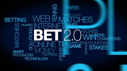 Bet 2.0 online betting live match odds gamble words tag cloud