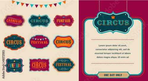Vintage Circus labels set - 80721183