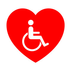 Icono corazon simbolo minusvalido