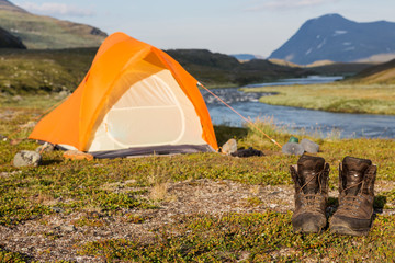 Camp on the Kungsleden in Lapand - Sweden