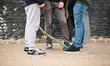 Leinwandbild Motiv Ragazzi con skate