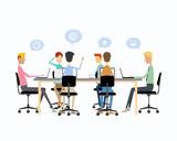 business teamwork meeting  brainstorm and  talking on work