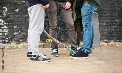 Ragazzi con skate - 80721909